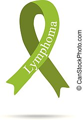 Cancer Ribbon. Lymphoma. International Day of cancer. World Cancer Day. Vector illustration on isolated background.