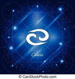 Cancer sign of the zodiac - Zodiac sign cancer. Vector space...