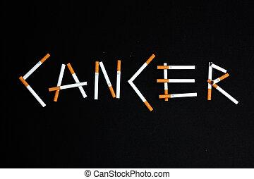 Cancer - Cigarettes spelling Cancer