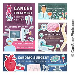 Cancer, urology and nephrology medical posters - Cardiology,...