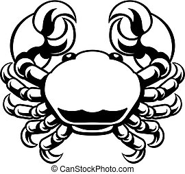 Cancer Zodiac Horoscope Astrology Sign Crab - Circle Cancer...