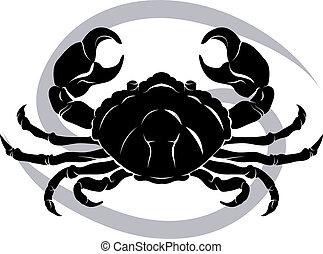Cancer zodiac horoscope astrology sign - Illustration of...