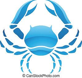 Cancer Zodiac Star Sign - Illustration of Cancer Zodiac Star...