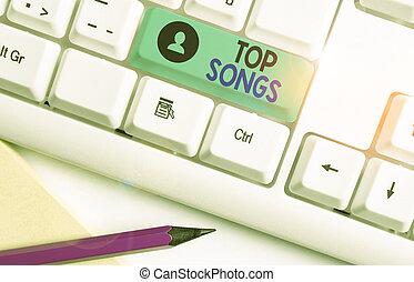 canción, songs., showcasing, popular, o, foto, registrado,...