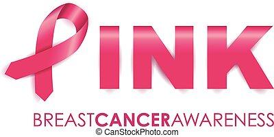 cancro, nastro, consapevolezza, seno