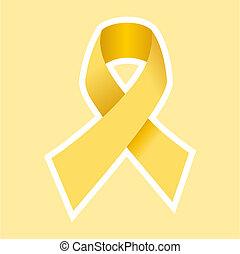 cancro, oro, simbolo, aiuti, hiv, o