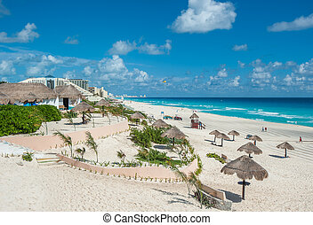 cancun, mexique, panorama, plage