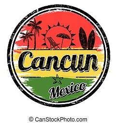 Cancun sign or stamp