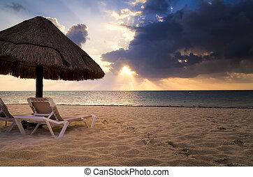 Cancun Sunrise - Sunrise over Cancun Beach