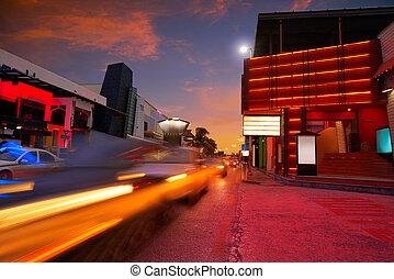 Cancun sunset at Blvd Kukulcan Mexico - Cancun sunset at...