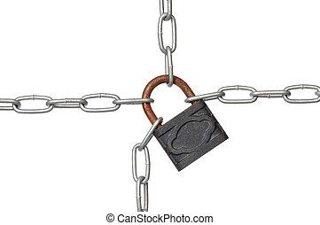 candado, cadena