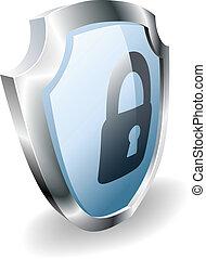 candado, seguridad, concepto, protector