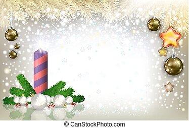 candela, astratto, augurio, decorazioni