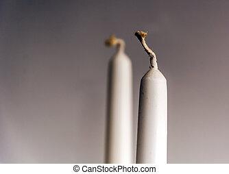 candela, bianco, stoppino