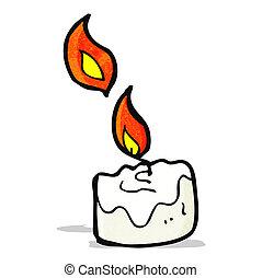 candela, cartone animato, urente
