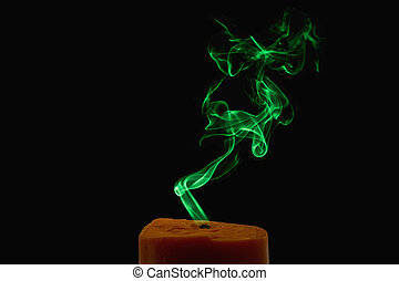 candela, colorito, fumo