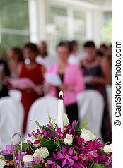 candela, dentro, church., urente