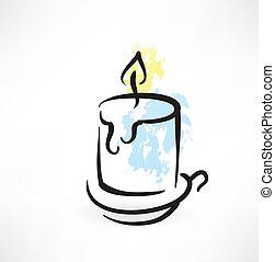 candela, grunge, icona