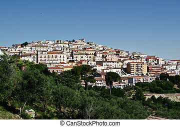 candela - landscape from the italian village of Candela