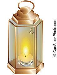 candela, lanterna