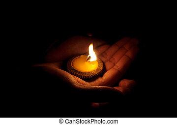 candela, mano