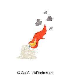 candela, retro, urente, cartone animato