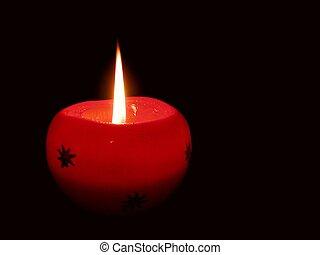 candela, rosso
