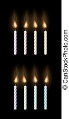 candela, sfondo nero, festa