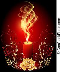 candela, urente, fumo
