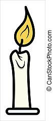candela, vettore, -, cartone animato, clipart
