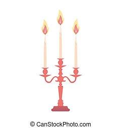 Candelabra candlestick chandelier candle vector isolated vintage antique holder illustration silhouette