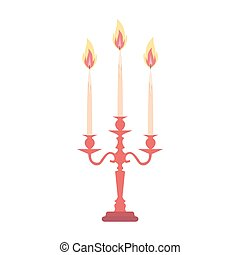 Candelabra candlestick chandelier candle vector isolated vintage antique holder illustration silhouette
