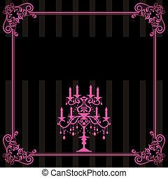 Candelabra frame