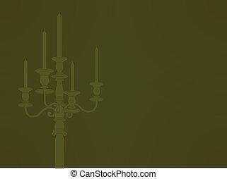 candelabra sillhouette EPS10