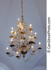 candelabrum - Chandelier in russian orthodox temple at...