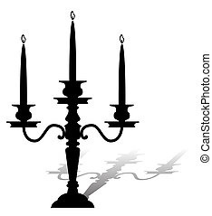 Candelabrum - Silhouette of a graceful candelabrum with...