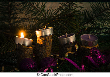 candele, avvento