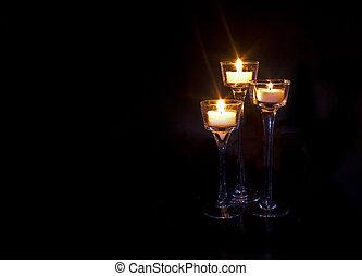 candele bruciando, fondo