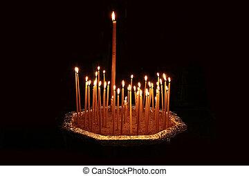candele, chiesa