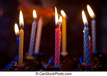 Candele, compleanno, Felice