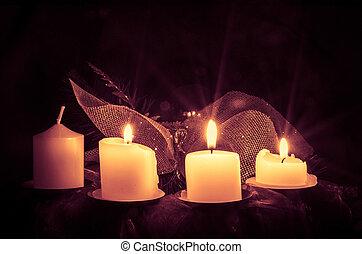 candele, ghirlanda, avvento