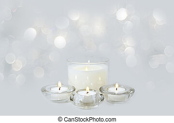 candele, natale, fondo