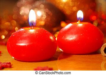 candele, rosso, urente
