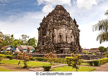 Candi Kalasan buddhist temple in Prambanan valley on Java....
