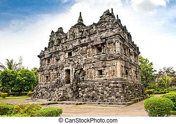 Candi Sari buddhist temple on Java. Indonesia. - Candi Sari...