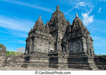 Main temple in Candi Sewu complex. Candi Sewu means 1000 temples, which links it to the legend of Loro Djonggrang. In fact this complex has 253 building structures (8th Century) and it is the second largest Buddhist temple in Java, Indonesia.