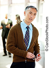 Candid Business Portrait - An candid image of a business man