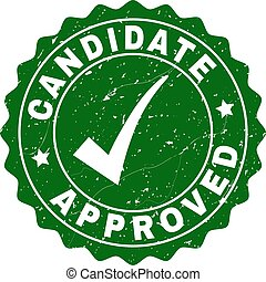 Candidate Approved Scratched Stamp with Tick