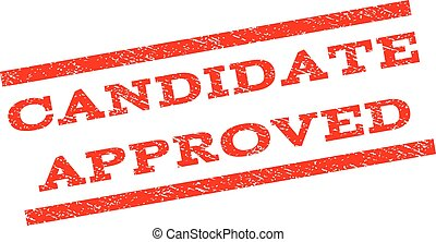 Candidate Approved Watermark Stamp