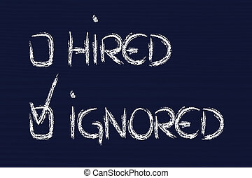 candidate ignored: negative recruitment process outcome -...